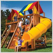 Rainbow Play Systems Of Iowa Wooden Swing Sets Open Play For