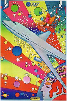 littlebunnysunshine:    Peter Max Pan Am Poster