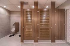 Ironwood Manufacturing Plastic Laminate Louvered Toilet Partition - Bathroom partitions michigan