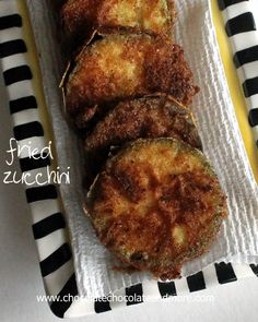 Fried Zucchini-straight from the garden to the frying pan to the table to your tummy!