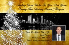 Holiday cards created just for #Realtors! Real estate Christmas cards.   Includes free set up by a graphics designer, free shipping and tax.