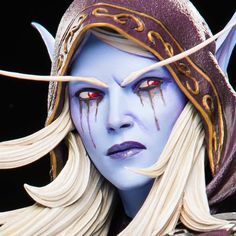 This official Sylvanas Statue is presented by Blizzard Entertainment, inspired by World of Warcraft. Lady Sylvanas, Banshee Queen, World Of Warcraft Characters, Sylvanas Windrunner, Les Themes, Statue, Geek Gifts, Digital Art, Surreal Art