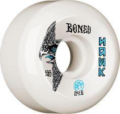 BONES WHEELS SPF Pro Tony Hawk Bird Skateboard P5 Sidecut 58mm Wheels Skateboard Bearings, Skateboard Wheels, Skate Wheels, Cheap Wheels, Hawk Bird, Skate Art, Tony Hawk, Longboarding, Ron