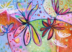 Colorful Flower Abstract Painting
