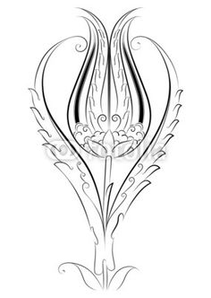 """Vector Tile Created by Motif Tulip Pattern """"E . Vector Tile Created by Motif Tulip Pattern """"E . Vector Pattern, Pattern Art, Pattern Design, Turkish Design, Turkish Art, Arabesque, Outline Drawings, Stock Image, Ceramic Painting"""