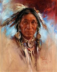 Artwork by Harley Brown, Bitterroot Chief, Made of pastel on paper