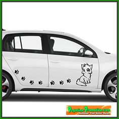 goldiges chaton avec Nom 40 cm Chat, Chats autocollant Vinyle Décalque sticker pegatina ,voiture,Stickers, auto car tuning racing – MADE IN…