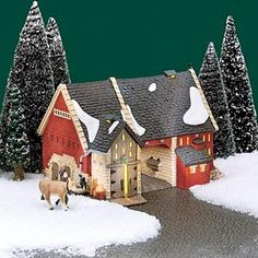 """Department 56: Products - """"Butter Tub Barn"""" - View Lighted Buildings"""