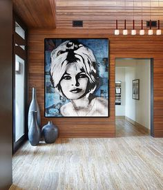 Brigitte BARDOT Painting Art Portrait Handmade Painting on
