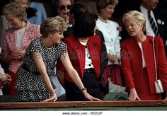 Wimbledon Men's Final ;Princess Diana of Wales and the Duchess of Kent in the Royal Box. ;July 1991 91-4302-265 - Stock Photo