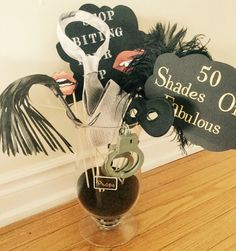 50 Shades of fabulous photo booth props