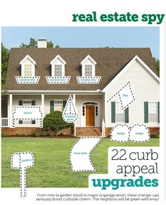 Curb appeal ideas (use this link http://www.hgtv.com/landscaping/curb-appeal-upgrades/pictures/index.html)