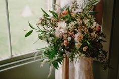 Bridal Bouquet by The Garden Gate Flower Company - image by Kristen Marie Photography for Port Eliot Collaboration.