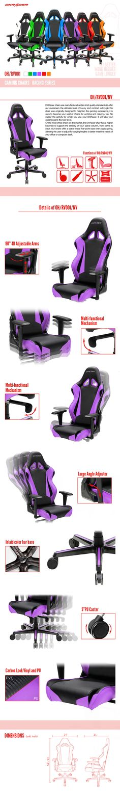 OH/RV001/NV - Racing Series - Gaming Chairs | DXRacer Official Website - Best Gaming Chair and Desk in the World
