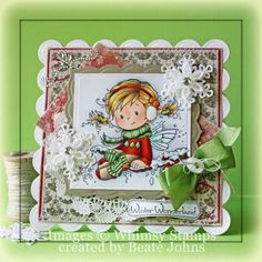 Winter Holly by Beate - Cards and Paper Crafts at Splitcoaststampers