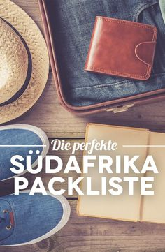 South Africa Packing List - How to pack the suitcase for your South Africa round trip [+ Safari Packliste] - Südafrika Rundreise Cap Town, South Africa Tours, Round Trip, Africa Travel, Namibia Travel, Travel Around The World, Adventure Travel, Travel Inspiration, Travel Ideas