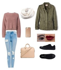 """""""Cozy Winter Outfit"""" by ralucavaida on Polyvore featuring Valas, Velvet by Graham & Spencer, Converse, Karen Millen and rag & bone"""