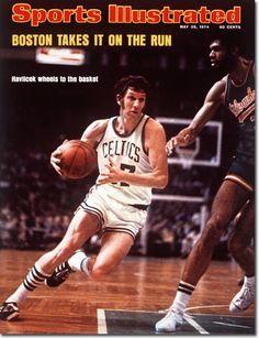 3c05da82a59 John Havlicek drives to the basket against Kareem Abdul-Jabbar during the  NBA Finals between the Boston Celtics and Milwaukee Bucks.
