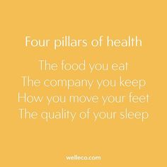 """WEBSTA @ superelixir - THE FOUR PILLARS OF HEALTH   """"The food you eat is the most important factor that will determine the quality of your long-term health and wellness. To that end, it is vital that your diet consist of real, organic food. The company you keep determines your level of consciousness and is a direct reflection of you. If they're toxic, you're toxic. Your vibe attracts your tribe. Exercise is the other half of the equation when it comes to health and wellness. I prefer…"""