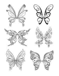 Fairy Wings Drawing, Fairy Drawings, Butterfly Drawing, Butterfly Wings, Mini Tattoos, Body Art Tattoos, Small Tattoos, Fake Tattoos, Fairy Wing Tattoos