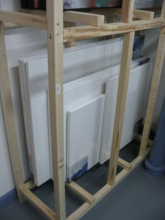 Iu0027m Building a painting storage rack - WetCanvas & An excellent idea for storing canvasses - Canvas storage. -mas o ...