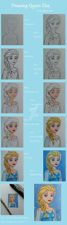 I decided to photograph step-by-step my newest ACEO card- Queen Elsa from Frozen. I personally love seeing a step-by-step works by artists for their artwork, so I decided to do one for this piece. ...