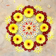 22 Quick and Easy Rangoli Ideas for Diwali 2018 you would love to copy from Rangoli Designs Flower, Colorful Rangoli Designs, Rangoli Ideas, Rangoli Designs Diwali, Diwali Rangoli, Flower Rangoli, Beautiful Rangoli Designs, Flower Designs, Indian Rangoli