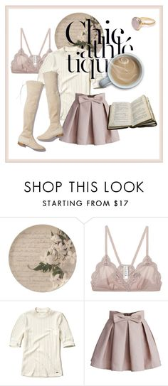 """""""Cozy Chic #1"""" by hideous ❤ liked on Polyvore featuring Vanessa Bruno, Hollister Co., Chicwish, Stuart Weitzman, Bohemia, contest and cozychic"""
