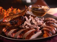 Roast Turkey with Mustard Maple Glaze recipe from Bobby Flay via Food Network