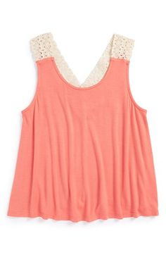 Mia Chica Crochet Tank Top (Big Girls) available at #Nordstrom