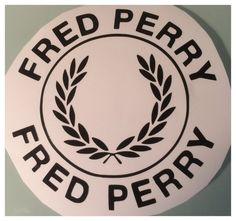 Fred perry scooter decal/sticker various sizes colours and finishes