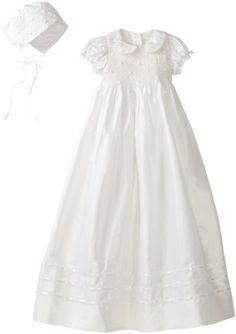 Hartstrings Baby-Girls Newborn Silk Christening Dress And Bonnet Set for only $76.99 You save: $143.01 (65%)