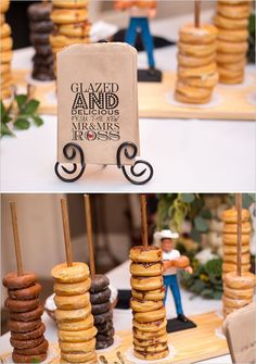 Is this the latest trend? Wedding donut bar!