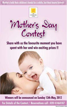 #offer #deal #event Mother's Day contest #TheCentralParkHotel #Pune Participate and The 2 winners will get a chance to spend quality time with FAMILY on some lip smacking delicacies. 1st Prize: FREE DINNER BUFFET @ Time After Time 2nd PRIZE: FREE DINNER @ Smoke on the Water (max value upto Rs 2000)
