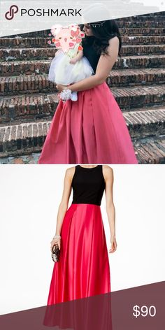 Prom pink & black dress❤️ Use it once to my prom night, in excellent conditions! You will look the Prom queen if you buy it cause it's different and nobody have it 💓😘 B & A by Betsy and Adam Dresses Prom