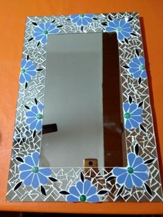 Mosaic Tile Art, Mirror Mosaic, Mosaic Glass, Stained Glass, Mosaics, Photo Mosaic, Baby Shower, Ariel, Frame