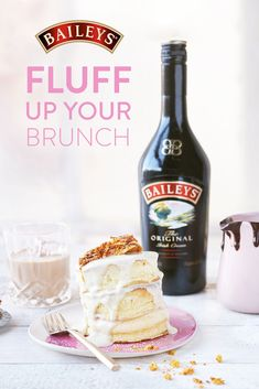 Who doesn't love to add a fluff to their morning? Rise and shine with fluffy Japanese pancakes topped with a little something sweet.  Yummy Drinks, Delicious Desserts, Yummy Food, Kahlua Recipes, Baileys Irish Cream, Alcohol Drink Recipes, Simply Recipes, Cake Decorating Tips, Chocolate