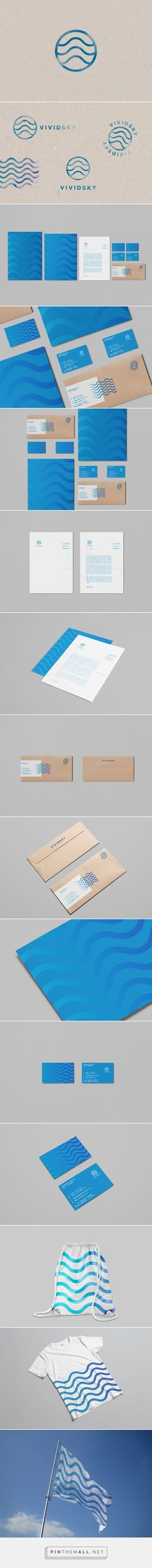 VIVIDSKY on Behance - created via http://pinthemall.net Graphic Design Branding, Brand Identity Design, Advertising Design, Packaging Design, Logo Design, Web Design, Corporate Branding, Corporate Design, Personal Branding