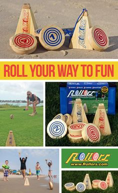 Rollors combines the fun of bocce ball, horseshoes and bowling. Outdoor Yard Games, Lawn Games, Horseshoes, Beach Day, Bowling, New Zealand, Macrame, Summertime, Picnic