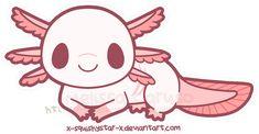An animated axolotl by x-SquishyStar-x on Deviantart!
