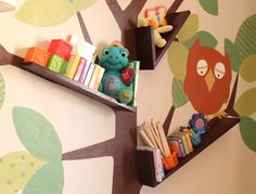 Pepper Design Blog » Blog Archive » Project Nursery: Floating Shelves for Liv's Tree