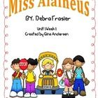 "This packet is a Fifth Grade Treasures Resources for ""Miss Alaineus"".  These resources compliment 5th grade Treasures (Unit 1 Week 1) ""Miss Alaineu..."