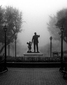 mickey and walt statue black and white photo wallpaper | Just a bit of trivia: this photo was taken with my first digital SLR ...