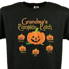Adorable Halloween shirt!  Add any title (Nana, Gigi, etc) and up to 30 kids' or grandkids' names.