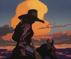 """On the High Mesa"" - Billy Schenck Arte Equina, Wall Collage, Wall Art, Vintage Cowgirl, Cowboy Art, Southwest Art, Le Far West, Arte Pop, Western Art"