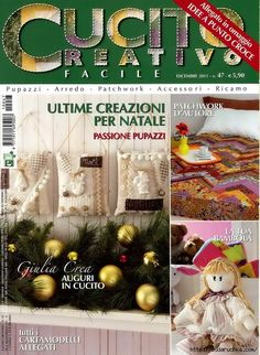 01 (512x700, 373Kb) Christmas Wreaths, Christmas Crafts, Christmas Tree, Book Crafts, Paper Crafts, Sewing Magazines, Magazine Crafts, Album Book, Needlework