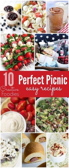 10 Perfect Picnic Easy Recipes!