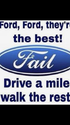 Ford suck logo