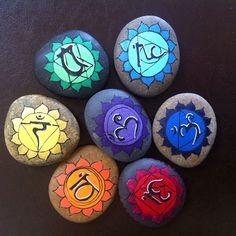 Chakra #rockart  #paintedstones #chakra