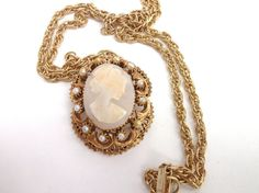 Vintage Large Stunning Florenza Cameo by mycreativeinstincts, $45.00